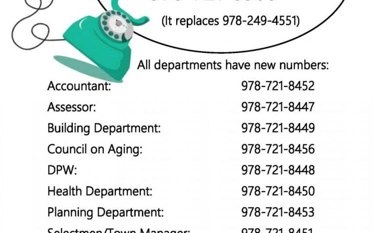 New phone numbers