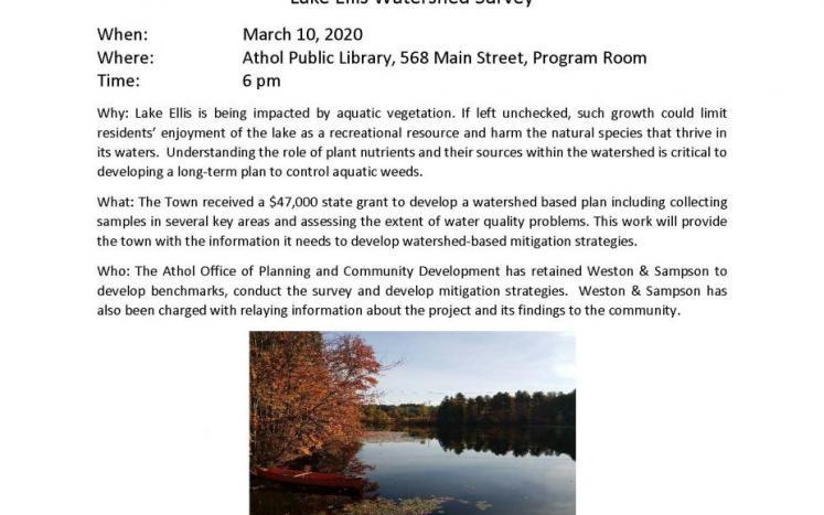 Lake Ellis Watershed Public Information Session